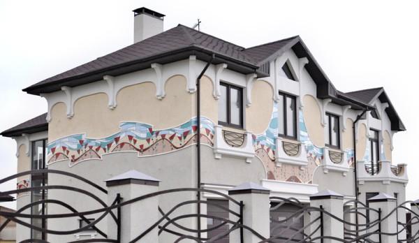 Украшение фасадов керамикой